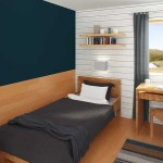 Zukünftiger Blick in eines der Schlafzimmer in Mikkelvik Brygge (Abb. ähnlich)