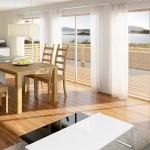 Zukünftiger Blick in das Wohnzimmer eines Appartements in Mikkelvik Brygge (Abb. ähnlich)