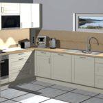Zukünftiger Blick in die Wohnküche eines Ferienhauses in Mikkelvik Brygge (Abb. ähnlich)