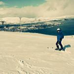 Das Skigebiet hat einen phantastischen Panoramablick auf Tromsø